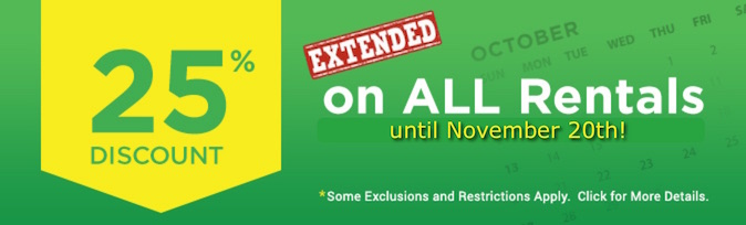 25% Off Extended Promotion