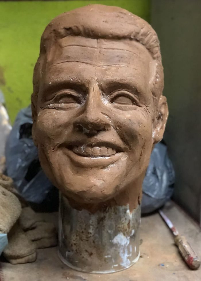 Sculpted Clay Head