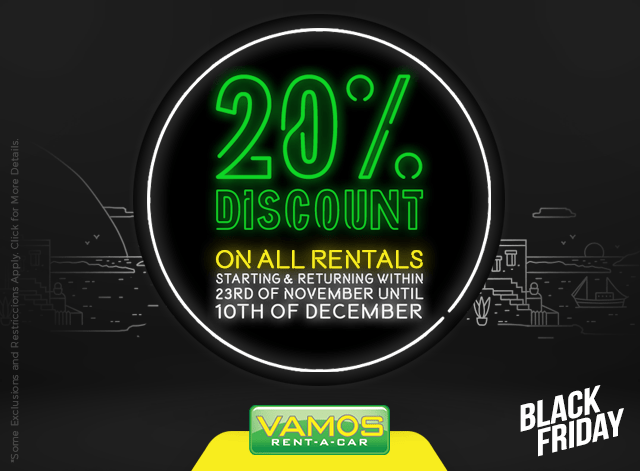 Car Rental Discount Promo...20% Off from Black Friday Promotion