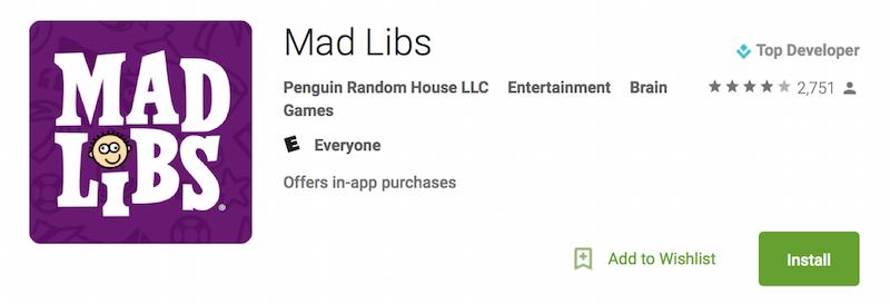 Mad Libs App