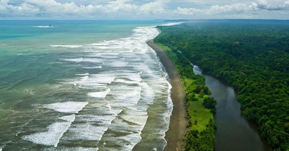 Ocean Waves Breaking on Beach