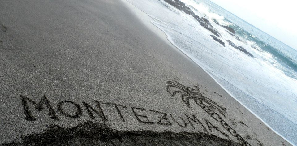 Montezuma in Sand on Beach