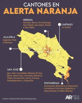 Costa Rica COVID Alert Zones
