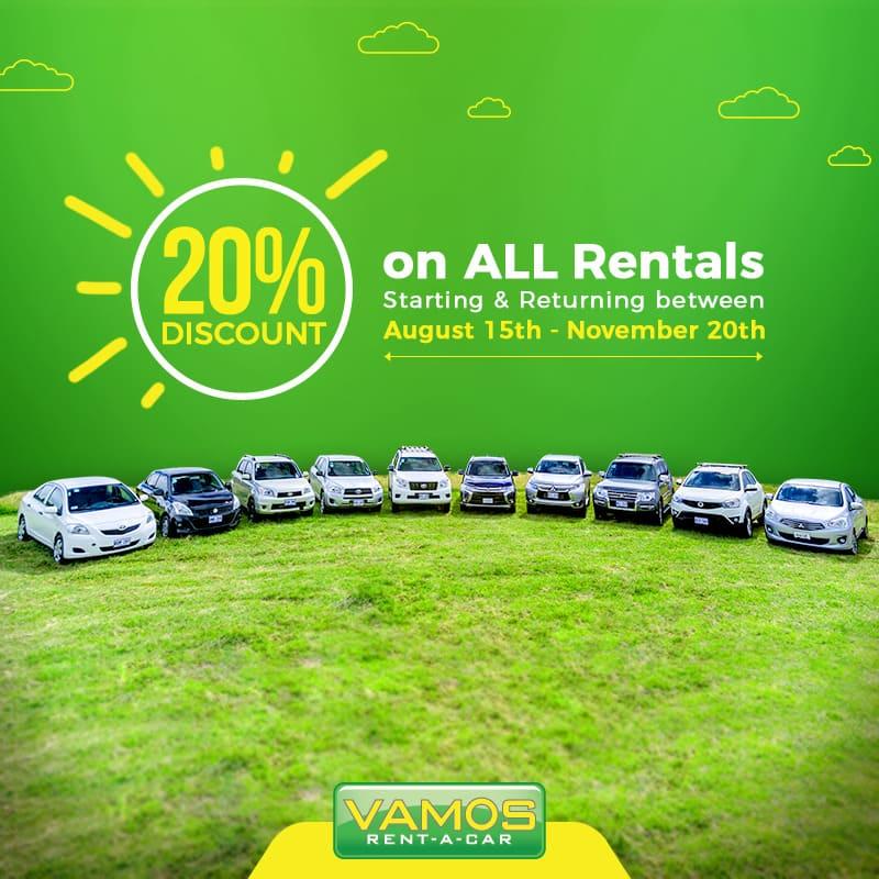 Keep Summer Alive Discount at Vamos Rent-A-Car