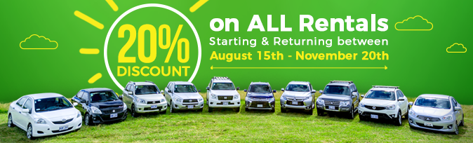 Keep Summer Alive Promo at Vamos Rent-A-Car
