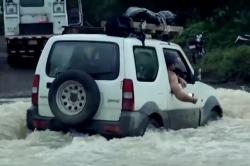 River Crossing in Car